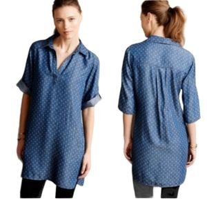 Anthropologie Cloth & Stone Chambray Shirt Dress